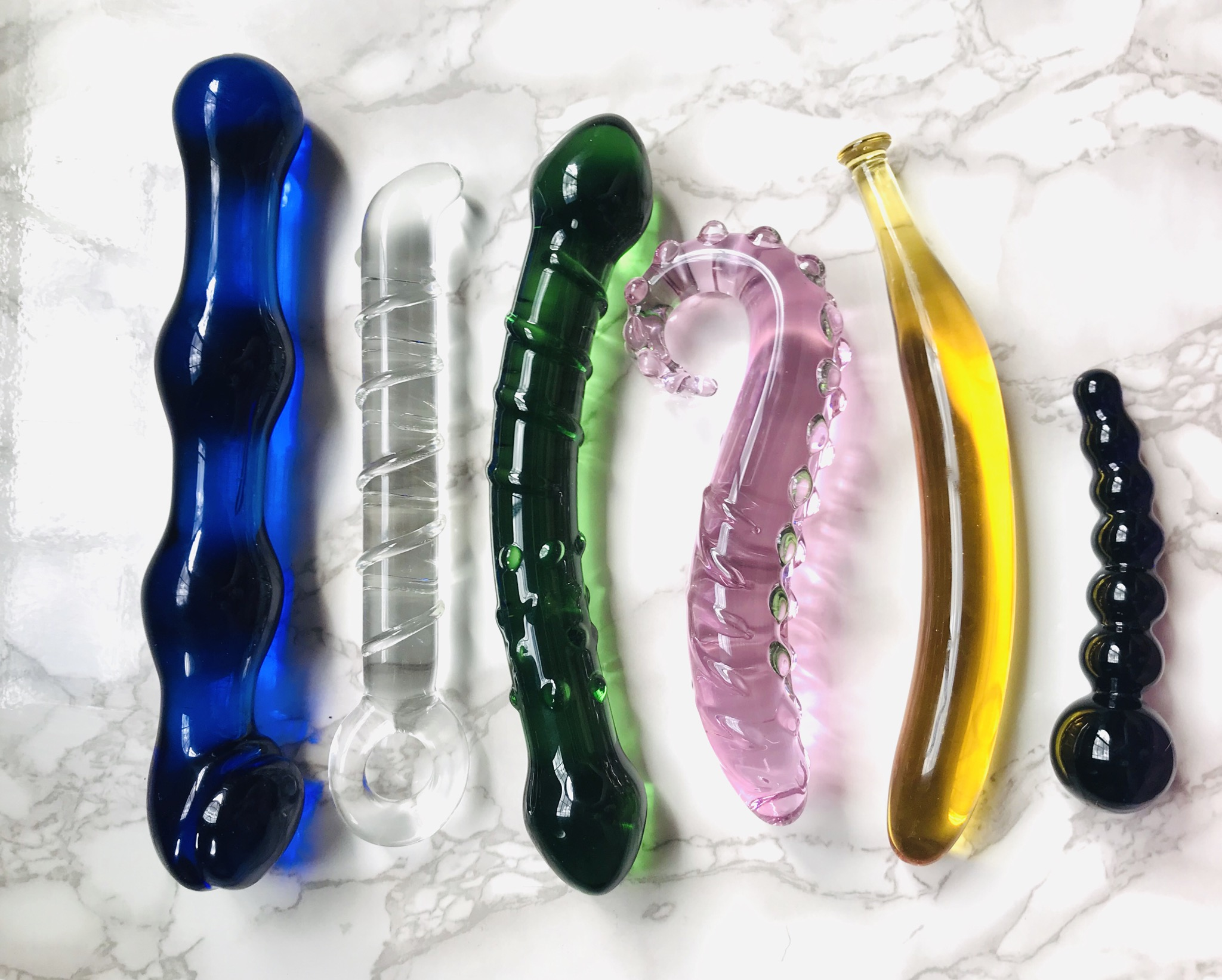 glass dildo collection