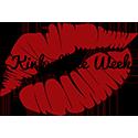 kink of the week logo (red lipstick print)